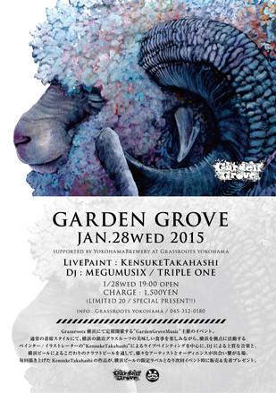 1.28(wed) GardenGrove Jan.2015 supported by YokohamaBrewery at Grassroots yokohama