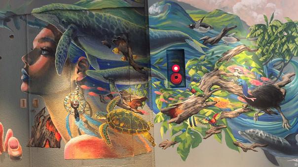 【KensukeTakahashi】「LATTE GRAPHIC 自由が丘店」様に壁画を提供させていただきました