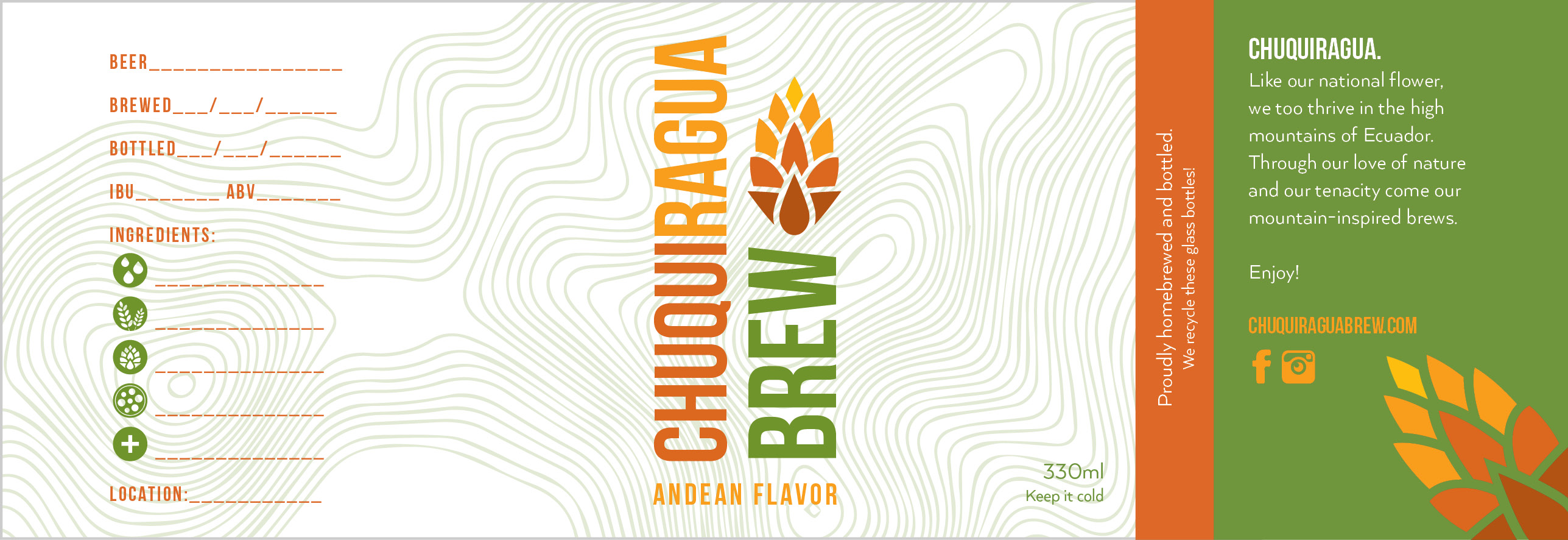 Chuquiragua Brew Beer Label Design