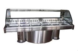 2500mm Curved Glass Deli Fridge