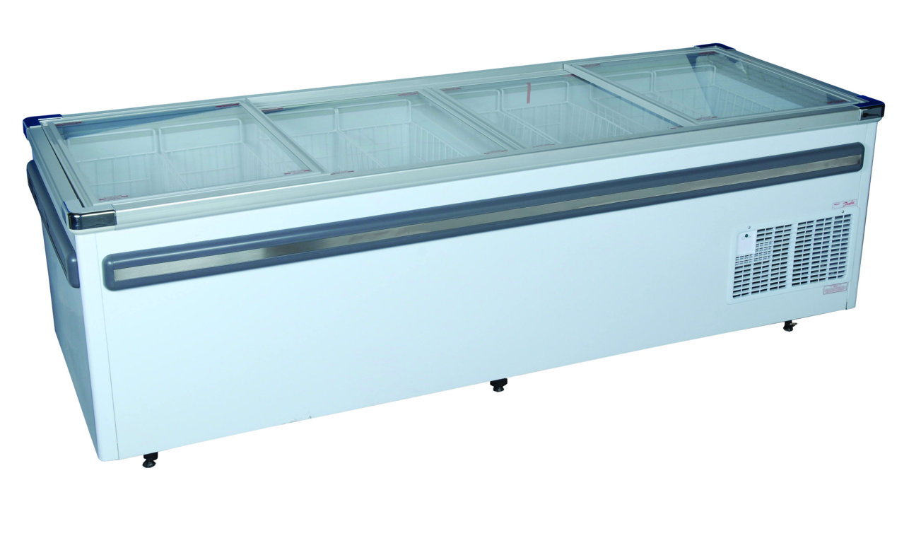2500mm Glass Top Island Freezer