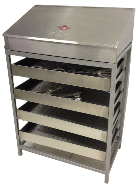 4 Tier Chip Rack with Bin