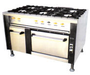 6 Plt Gas Stove/Electric Oven Range