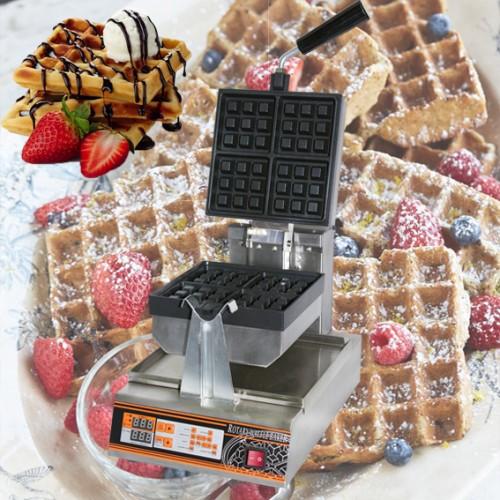 Single Square Belgian Waffle Machine