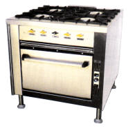 4 Plt Gas Stove/Electric Oven Range