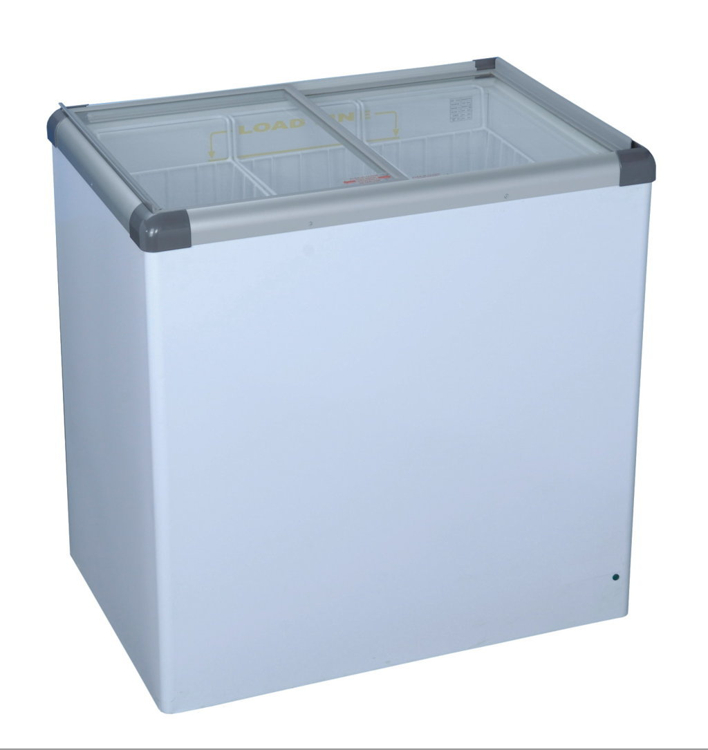 Glass Top Chest Freezer - Small