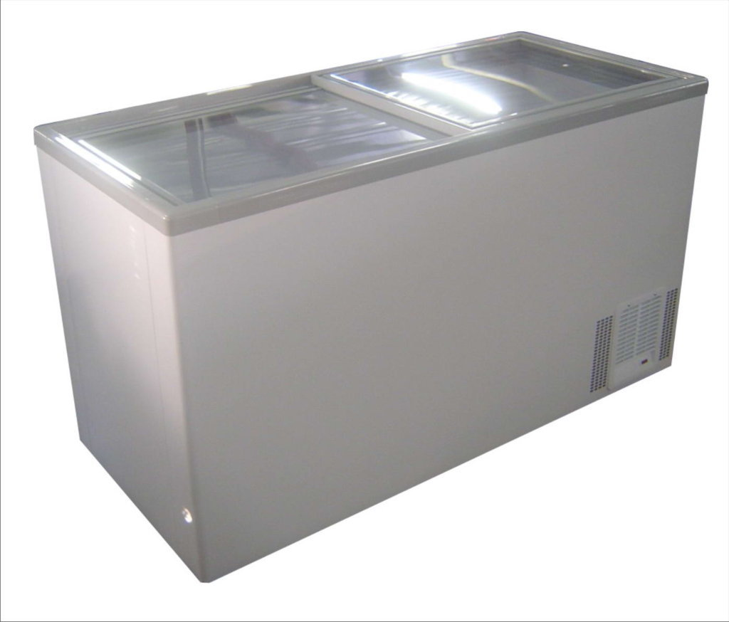 Glass Top Chest Freezer -Medium