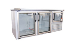 2 1/2 Glass Door Underbar Fridge