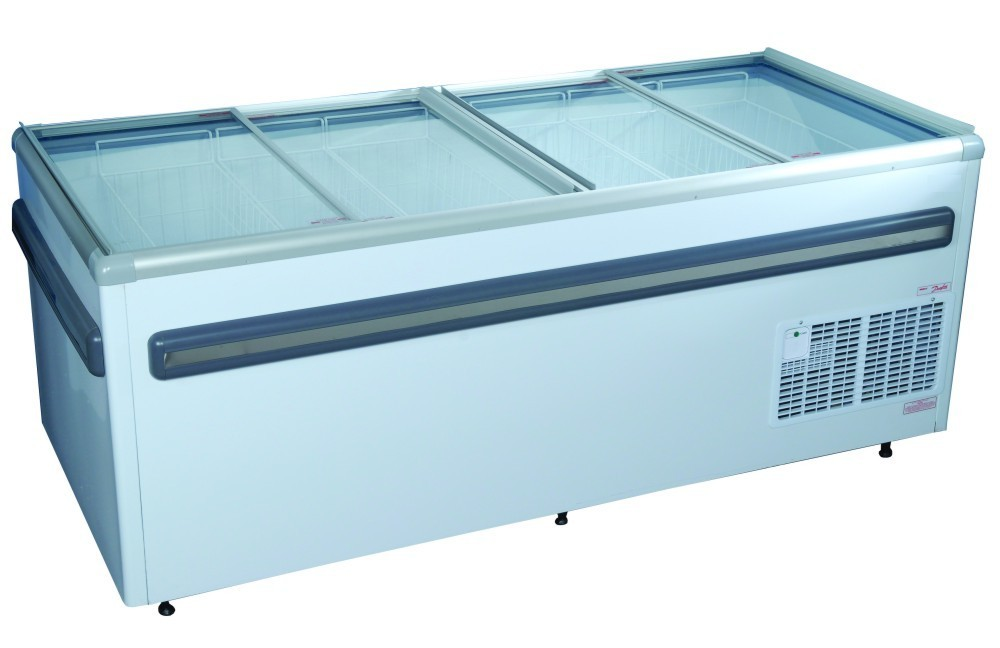 2000mm Glass Top Island Freezer