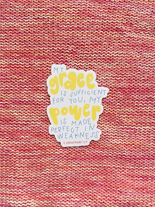 """""""My Grace is Sufficient"""" Sticker"""
