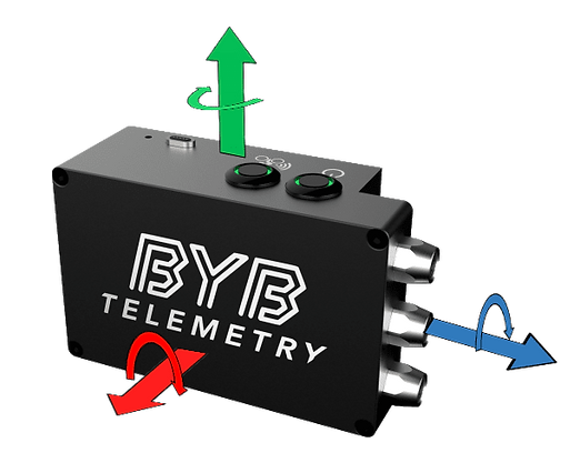BYB Telemetry accelerometer and gyroscope