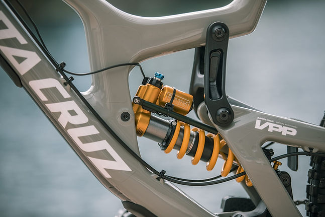 BYB Telemetry linear potentiometer on Ohlins shock