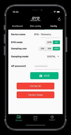 BYB Telemetry iphone app