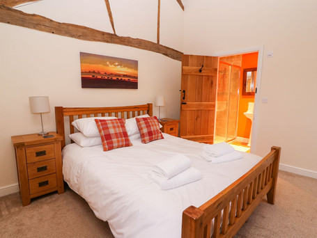 Master Bedroom, The Stables Holiday Cottage, Mid Wales