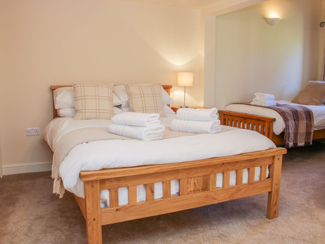 Family Bedroom, The Stables Holiday Cottage, Mid Wales