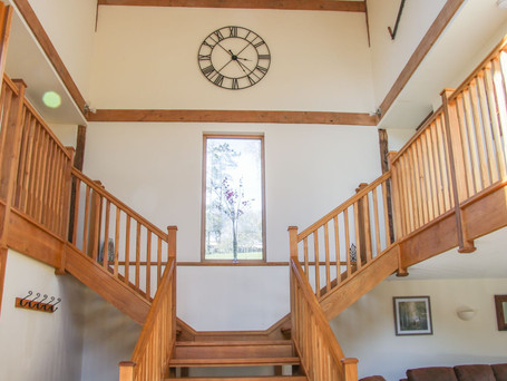 Oak Staircase, The Stables Holiday Cottage, Mid Wales