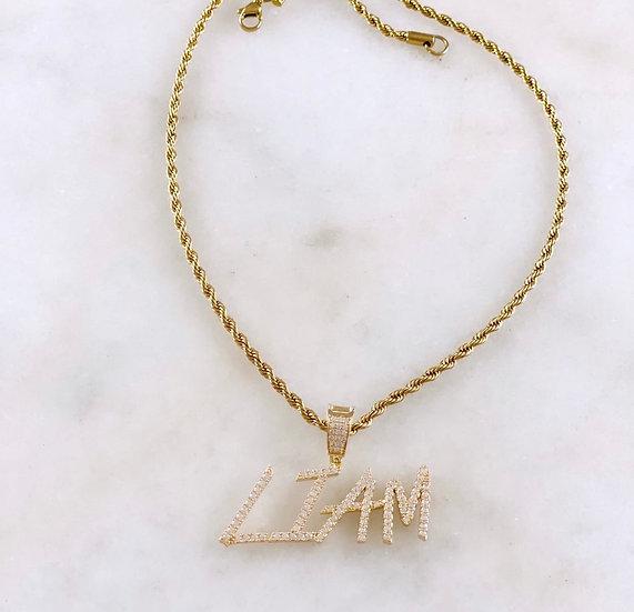 Custom Edgy Pendant Necklace