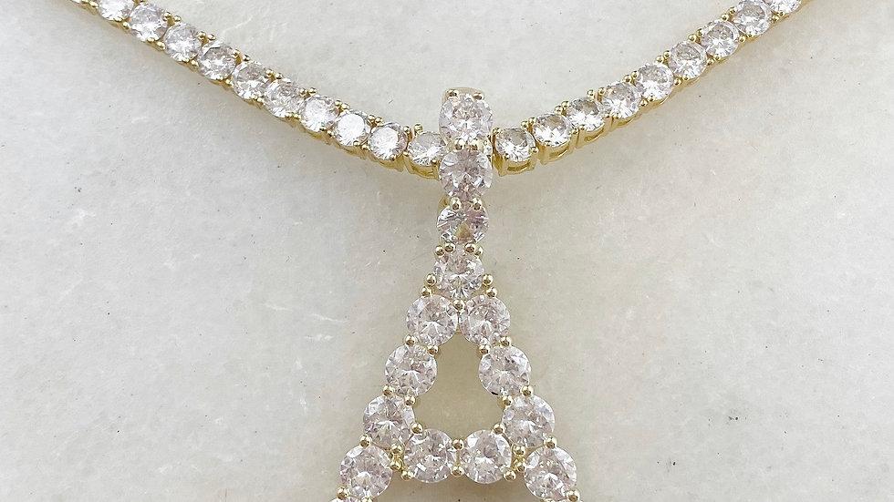 XXL Crystal Initial Tennis Chain