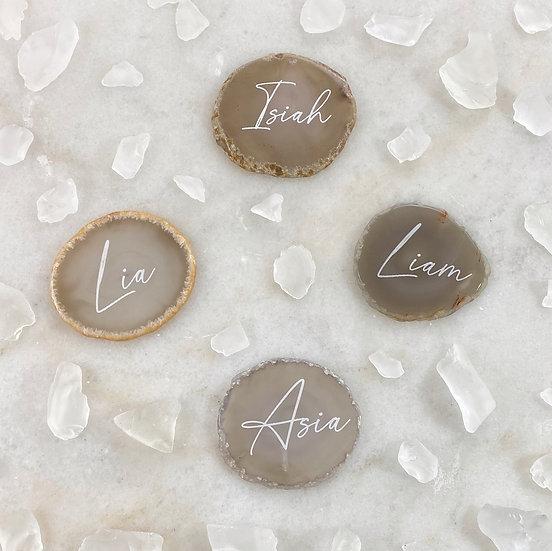Custom Engraved Agate Crystal