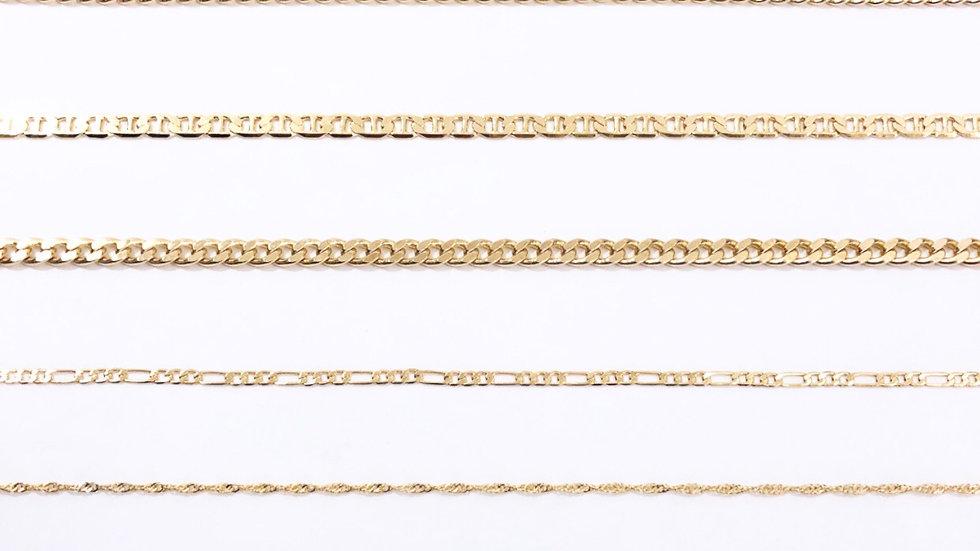 24k Gold Plated Chain Bracelet/Anklet