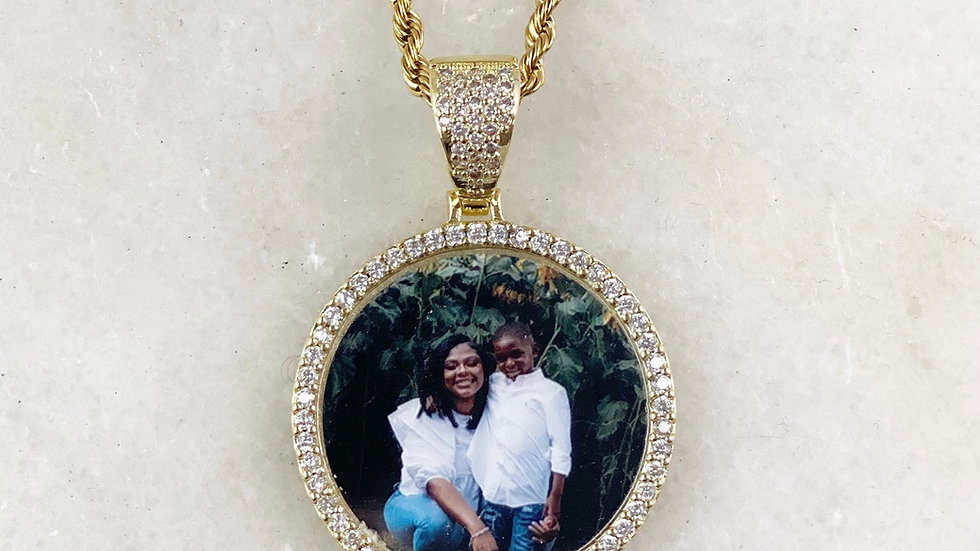 Custom Crystal Picture Necklace