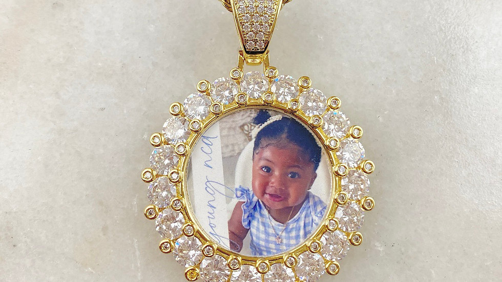 XXL Custom Crystal Picture Necklace