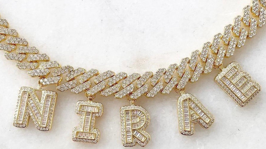 Custom Crystal Cuban Bracelet/Anklet