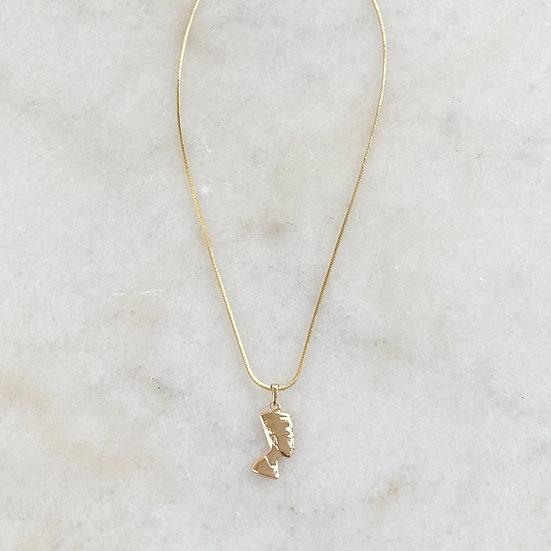 18kt Gold Filled Nefertiti Charm Necklace