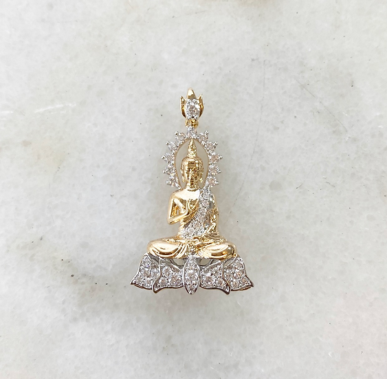 18k Gold Filled Buddha Charm Necklace