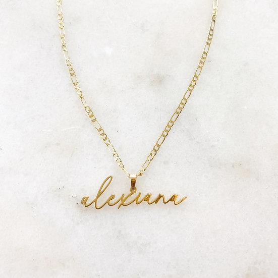 MINI Pendant Style Name Plate Necklace