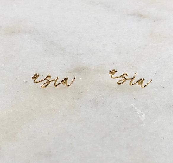 MINI Custom Name Studs