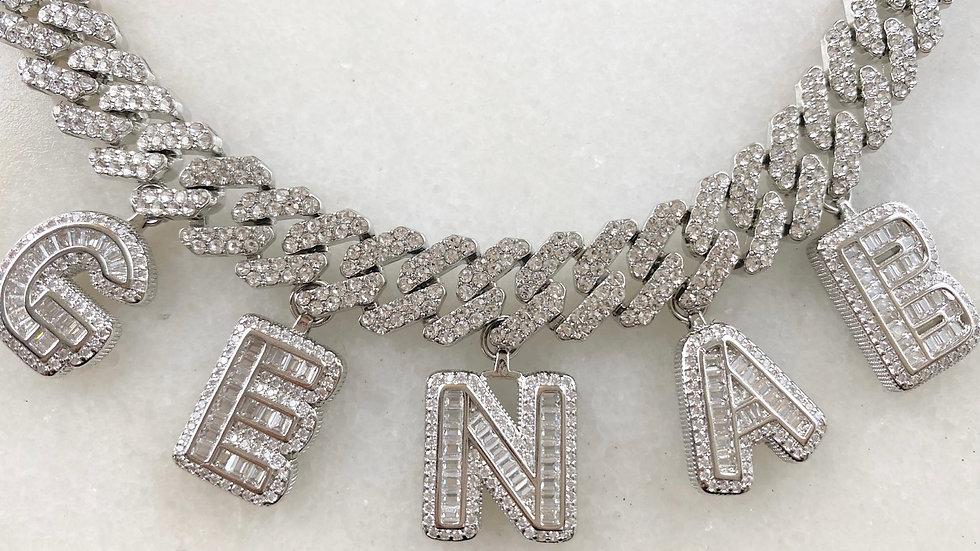 Custom Crystal Cuban Chain Necklace