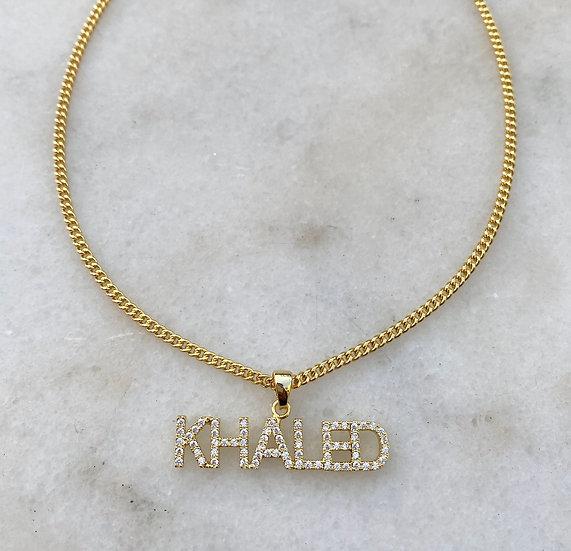 Crystal Pendant Name Plate