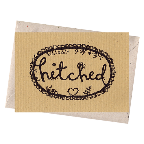 sign & stamp service - wedding card - HITCHED