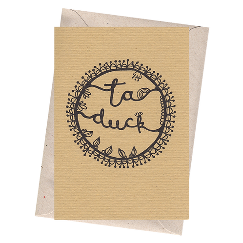 sign & stamp service - thank you card - TA DUCK