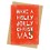Thumbnail: sign & stamp service - luxe Christmas card - HOLLY JOLLY