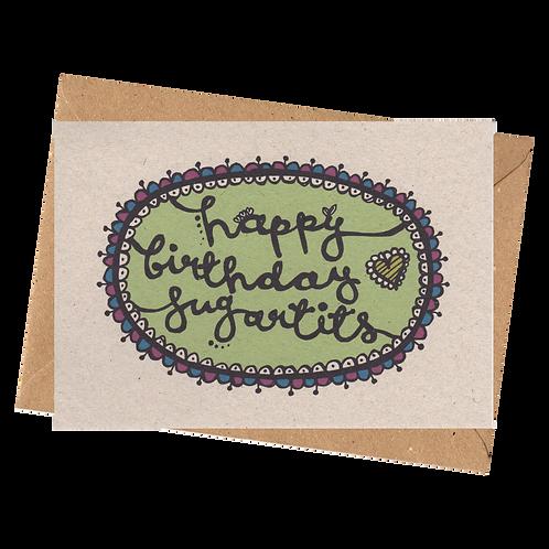sign & stamp service - HAPPY BIRTHDAY SUGAR