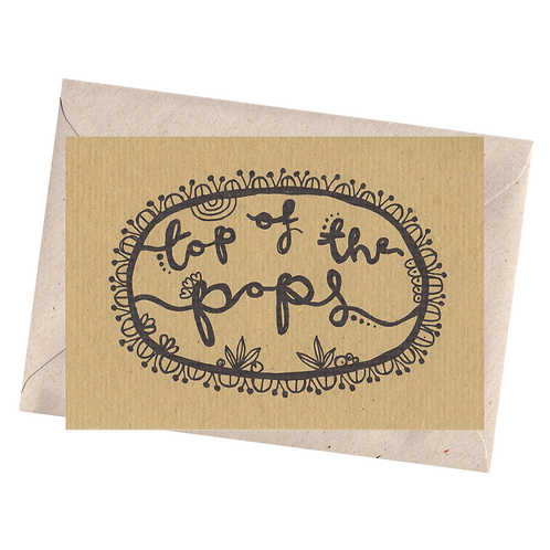 sign & stamp service - Father's Day card, dad - TOPOF THE POPS