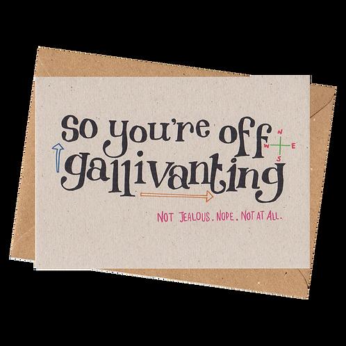 sign & stamp service - bon voyage card, good luck card - GALLIVANTING