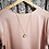 Thumbnail: Coral Fern cherry wood long boho necklace