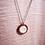 Thumbnail: Baitball Bubbles sand cherry wood boho necklace