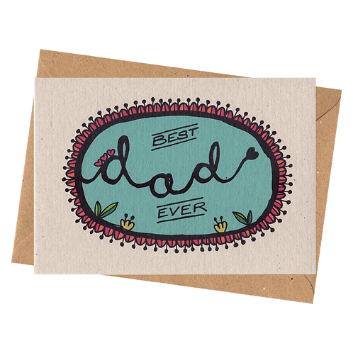 sign & stamp service - father's day, dad's birthday, thank you - BEST DAD EVER