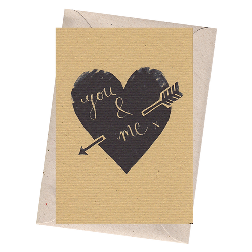 sign & stamp service - valentines, love, any occasion card - YOU & ME