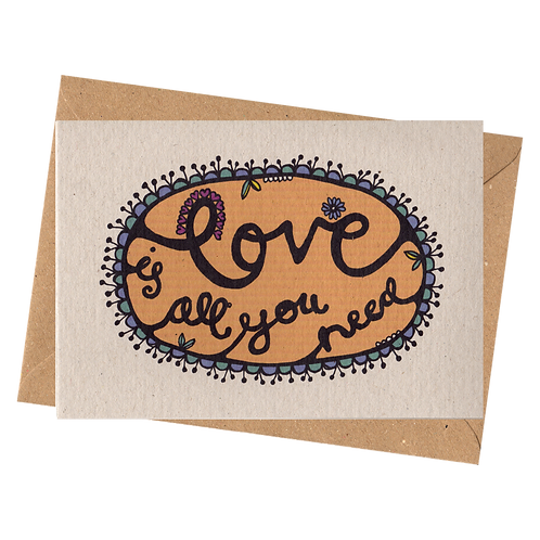 sign & stamp service - LOVE IS ALL YOU NEED Colour