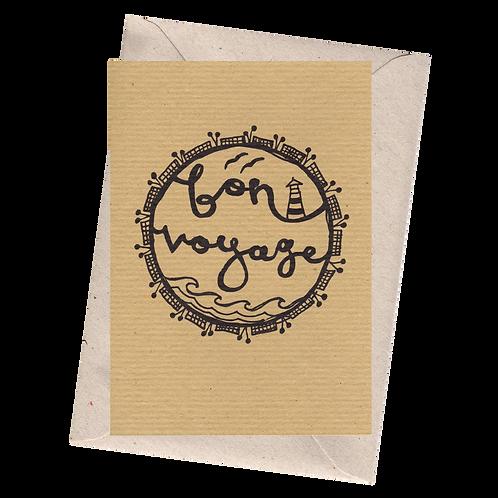 sign & stamp service - leaving card, travel, new job - BON VOYAGE