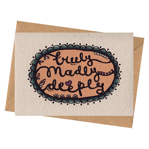 sign & stamp service - valentine's day, love, any occasion - TRULY MADLY DEEPLY