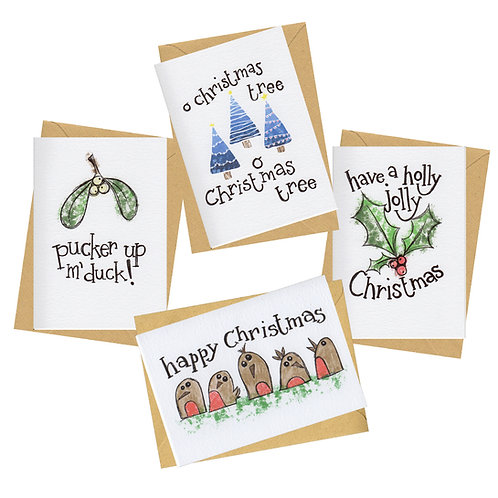 Card pack - NOT sign & stamp - luxe Christmas cards - The Sketch Collection