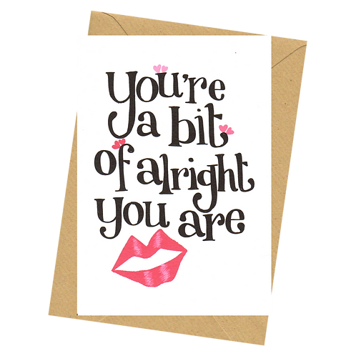 sign & stamp service - love, Valentine's day - A BIT OF ALRIGHT