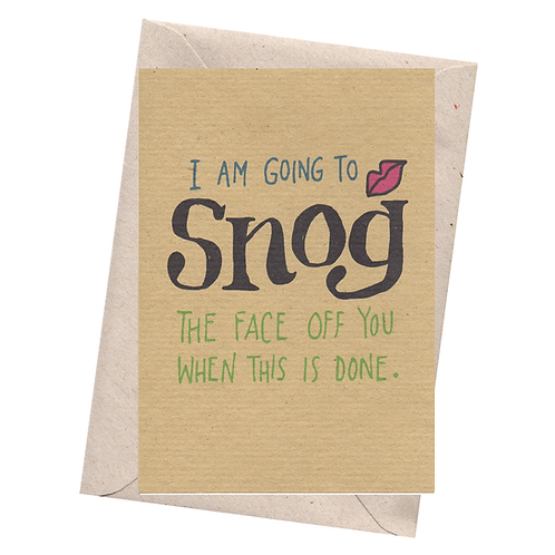 sign & stamp service - isolation card, missing you, any occasion - SNOG