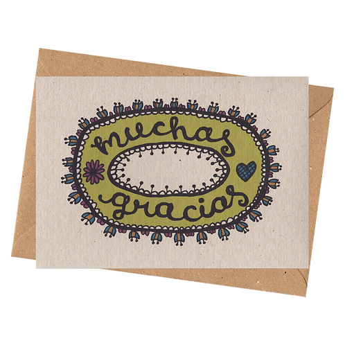 sign & stamp service - thank you card - MUCHAS GRACIAS